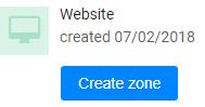 click create zone in propeller ads