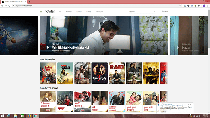 Hotstar for pc free movies