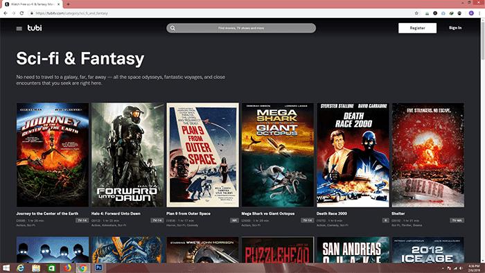 Tubi movies sites free